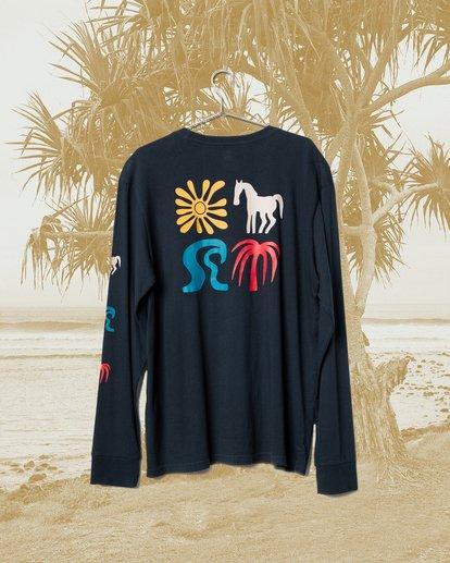0 Wrangler Lands Long Sleeve T-Shirt Blue ABYZT00580 Billabong