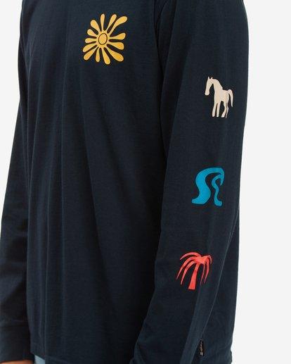 5 Wrangler Lands Long Sleeve T-Shirt Blue ABYZT00580 Billabong