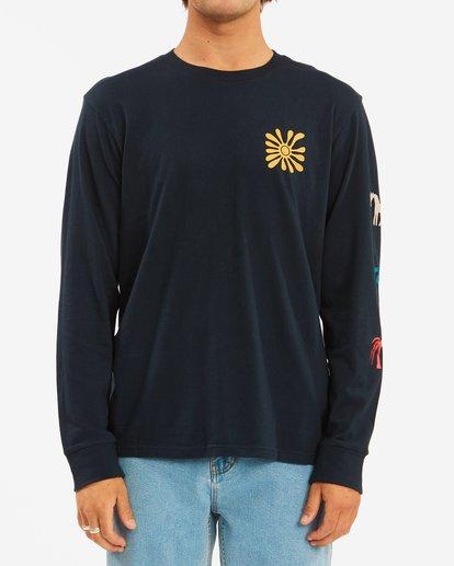 1 Wrangler Lands Long Sleeve T-Shirt Blue ABYZT00580 Billabong