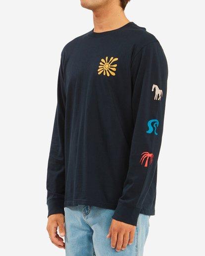 2 Wrangler Lands Long Sleeve T-Shirt Blue ABYZT00580 Billabong