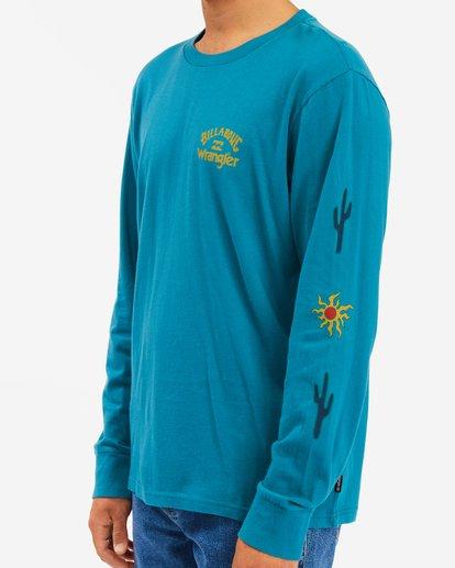 4 Wrangler Sunlight Long Sleeve T-Shirt Green ABYZT00581 Billabong