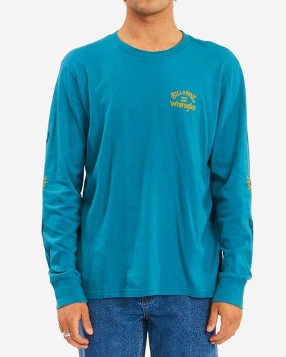 0 Wrangler Sunlight Long Sleeve T-Shirt Green ABYZT00581 Billabong