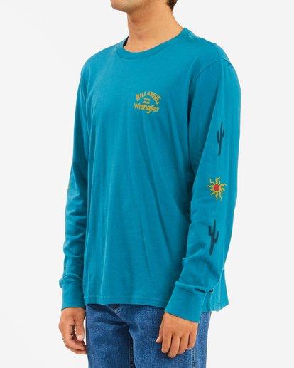 1 Wrangler Sunlight Long Sleeve T-Shirt Green ABYZT00581 Billabong