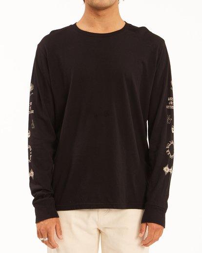 0 Wrangler Dreamer Long Sleeve T-Shirt Black ABYZT00582 Billabong