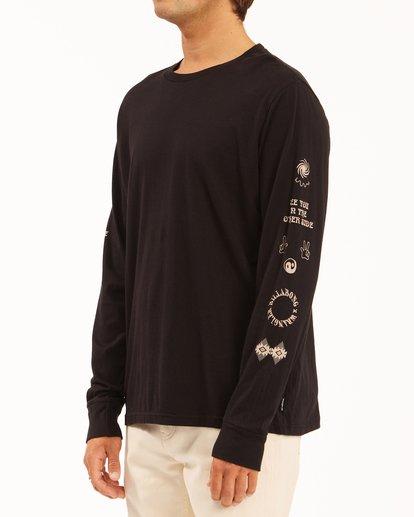 1 Wrangler Dreamer Long Sleeve T-Shirt Black ABYZT00582 Billabong
