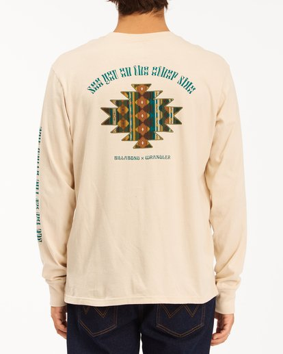 2 Wrangler Westward Long Sleeve T-Shirt White ABYZT00583 Billabong