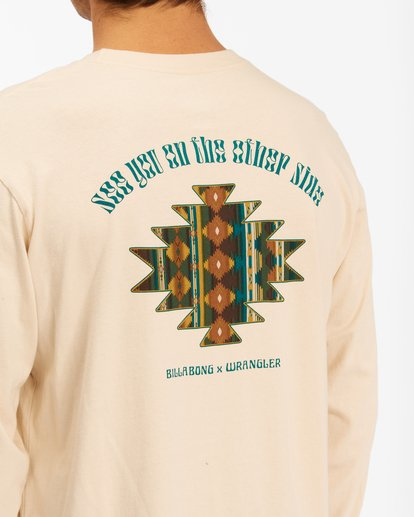 3 Wrangler Westward Long Sleeve T-Shirt White ABYZT00583 Billabong