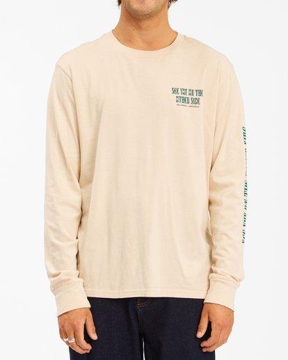 0 Wrangler Westward Long Sleeve T-Shirt White ABYZT00583 Billabong