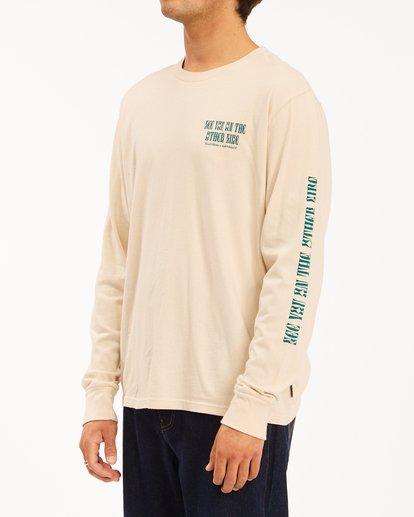 1 Wrangler Westward Long Sleeve T-Shirt White ABYZT00583 Billabong