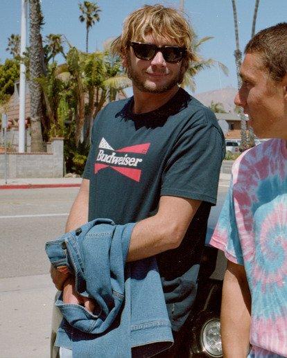 0 Budweiser Flag Short Sleeve T-Shirt Blue ABYZT00586 Billabong