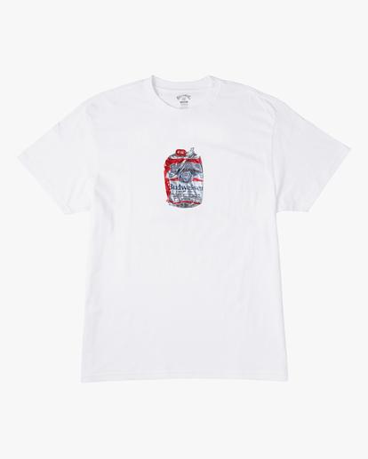 6 Budweiser Crusher Short Sleeve T-Shirt White ABYZT00587 Billabong