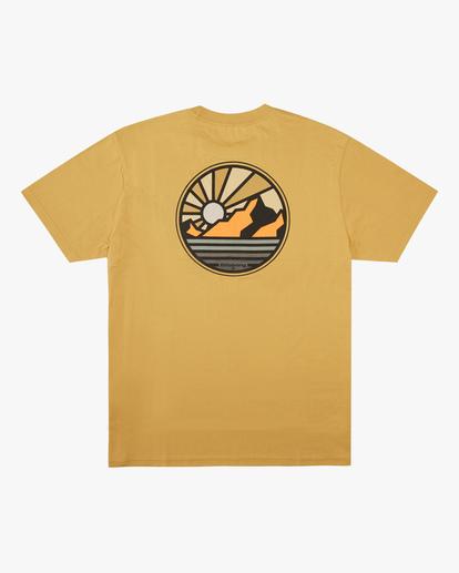 5 A/Div Rockies Short Sleeve T-Shirt Beige ABYZT00595 Billabong