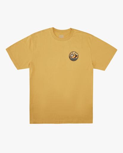 4 A/Div Rockies Short Sleeve T-Shirt Beige ABYZT00595 Billabong
