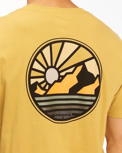 3 A/Div Rockies Short Sleeve T-Shirt Beige ABYZT00595 Billabong