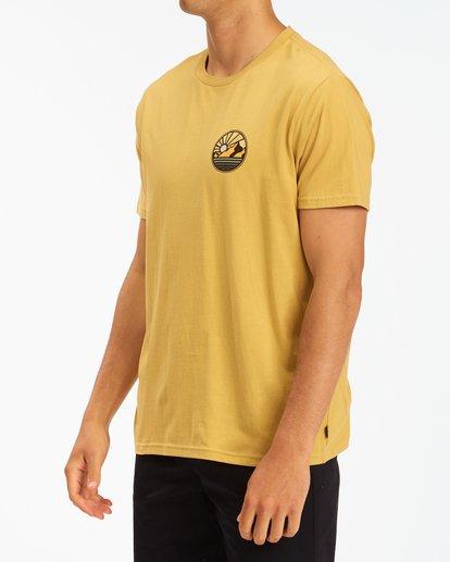 1 A/Div Rockies Short Sleeve T-Shirt Beige ABYZT00595 Billabong