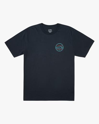 4 A/Div Peak Wave Short Sleeve T-Shirt Blue ABYZT00596 Billabong