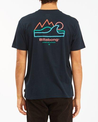 2 A/Div Peak Wave Short Sleeve T-Shirt Blue ABYZT00596 Billabong