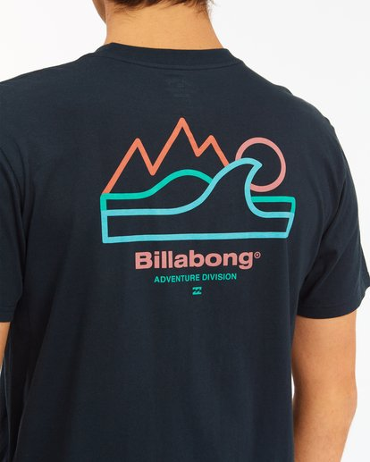 3 A/Div Peak Wave Short Sleeve T-Shirt Blue ABYZT00596 Billabong