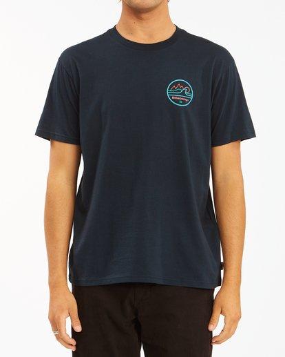 0 A/Div Peak Wave Short Sleeve T-Shirt Blue ABYZT00596 Billabong