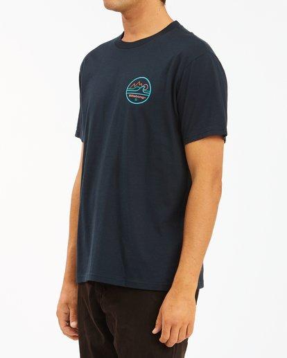 1 A/Div Peak Wave Short Sleeve T-Shirt Blue ABYZT00596 Billabong