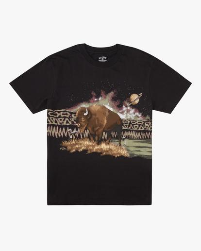 3 A/Div Buffalo Short Sleeve T-Shirt Black ABYZT00599 Billabong