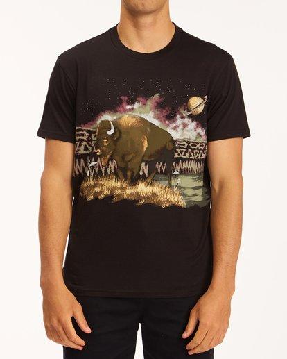 0 A/Div Buffalo Short Sleeve T-Shirt Black ABYZT00599 Billabong