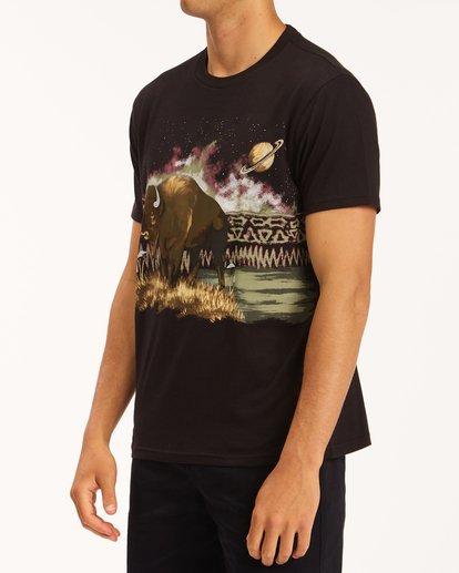 1 A/Div Buffalo Short Sleeve T-Shirt Black ABYZT00599 Billabong