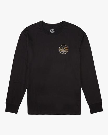 3 A/Div Peak Wave Long Sleeve T-Shirt Black ABYZT00603 Billabong