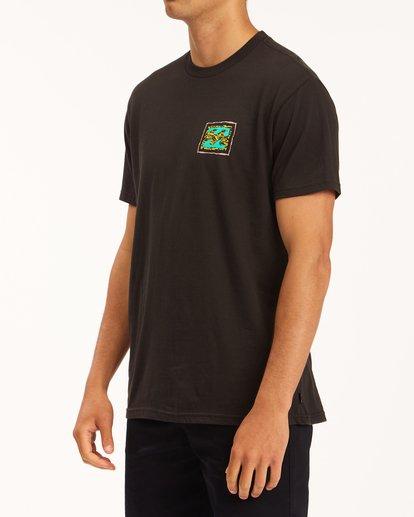 1 Crayon Wave Short Sleeve T-Shirt Black ABYZT00607 Billabong