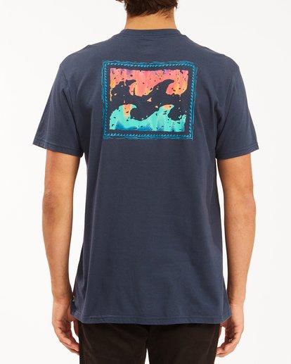 2 Crayon Wave Short Sleeve T-Shirt Blue ABYZT00607 Billabong