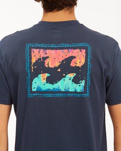 3 Crayon Wave Short Sleeve T-Shirt Blue ABYZT00607 Billabong