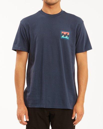 0 Crayon Wave Short Sleeve T-Shirt Blue ABYZT00607 Billabong