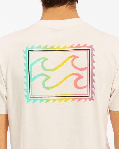 3 Crayon Wave Short Sleeve T-Shirt White ABYZT00607 Billabong