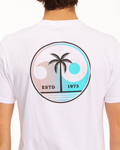3 Yin And Wave Short Sleeve T-Shirt White ABYZT00610 Billabong