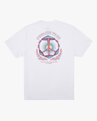 5 Shroom Peace Short Sleeve T-Shirt White ABYZT00615 Billabong