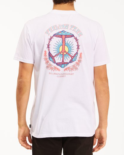 2 Shroom Peace Short Sleeve T-Shirt White ABYZT00615 Billabong
