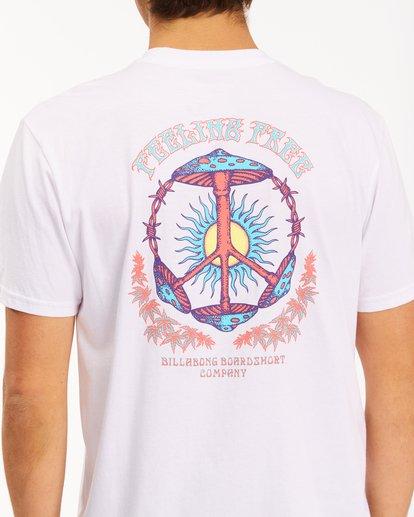 3 Shroom Peace Short Sleeve T-Shirt White ABYZT00615 Billabong