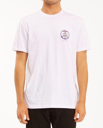 0 Shroom Peace Short Sleeve T-Shirt White ABYZT00615 Billabong