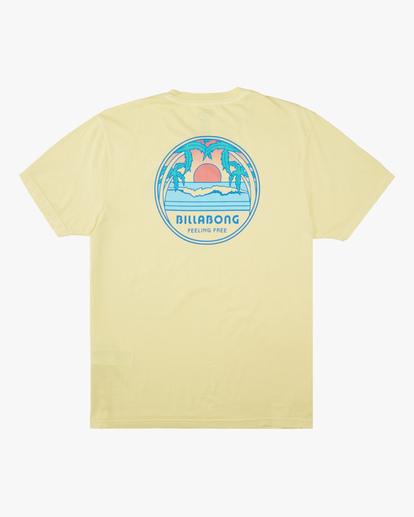 5 Sunset Wave Washed Short Sleeve T-Shirt Yellow ABYZT00623 Billabong