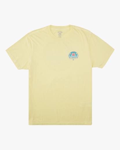 4 Sunset Wave Washed Short Sleeve T-Shirt Yellow ABYZT00623 Billabong