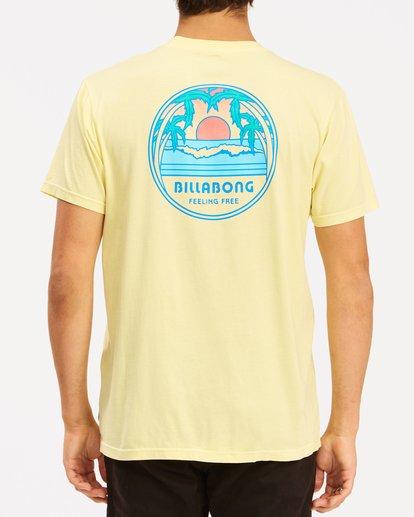 2 Sunset Wave Washed Short Sleeve T-Shirt Yellow ABYZT00623 Billabong