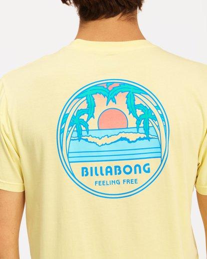 3 Sunset Wave Washed Short Sleeve T-Shirt Yellow ABYZT00623 Billabong