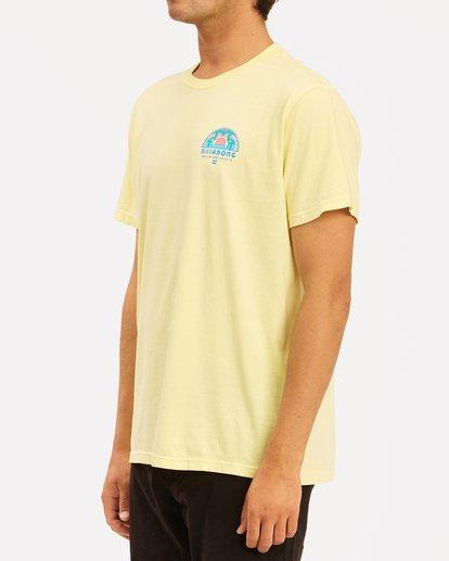 1 Sunset Wave Washed Short Sleeve T-Shirt Yellow ABYZT00623 Billabong