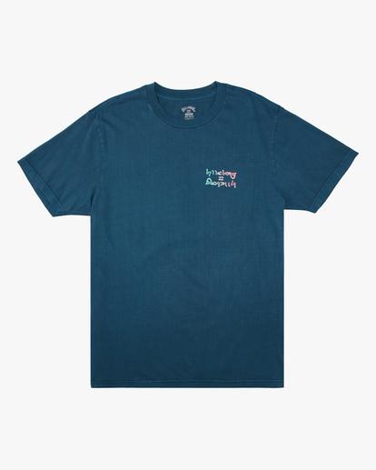 5 Moon Wave Washed Short Sleeve T-Shirt Blue ABYZT00624 Billabong