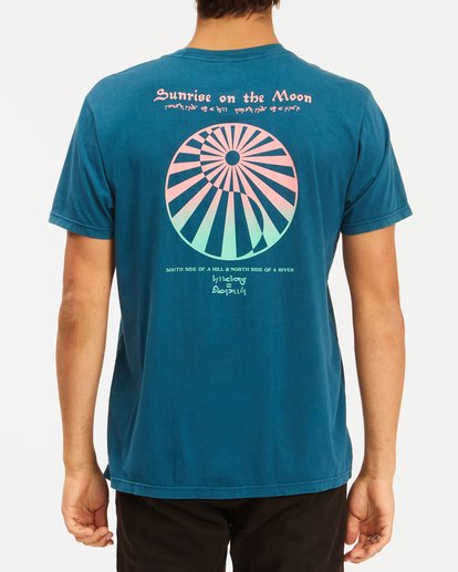 2 Moon Wave Washed Short Sleeve T-Shirt Blue ABYZT00624 Billabong