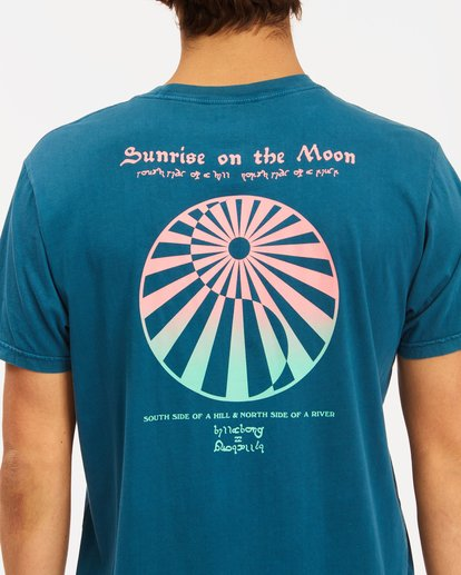 3 Moon Wave Washed Short Sleeve T-Shirt Blue ABYZT00624 Billabong
