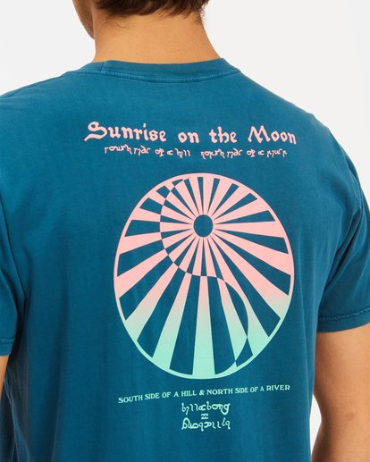 4 Moon Wave Washed Short Sleeve T-Shirt Blue ABYZT00624 Billabong