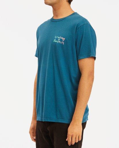 1 Moon Wave Washed Short Sleeve T-Shirt Blue ABYZT00624 Billabong