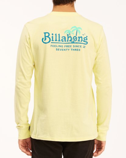 2 Lounge Long Sleeve T-Shirt Yellow ABYZT00625 Billabong