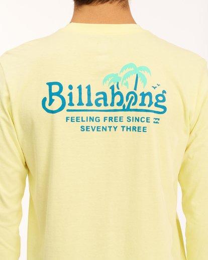 3 Lounge Long Sleeve T-Shirt Yellow ABYZT00625 Billabong